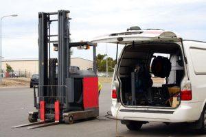 Taller furgoneta reparación Carretillas elevadoras